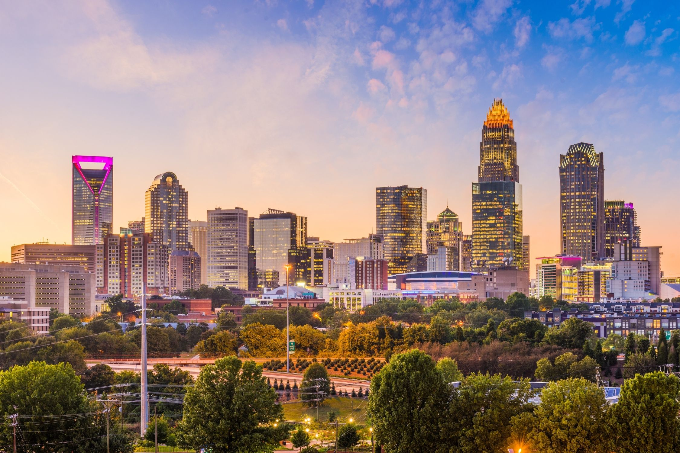 City Skyline Charlotte North Carolina
