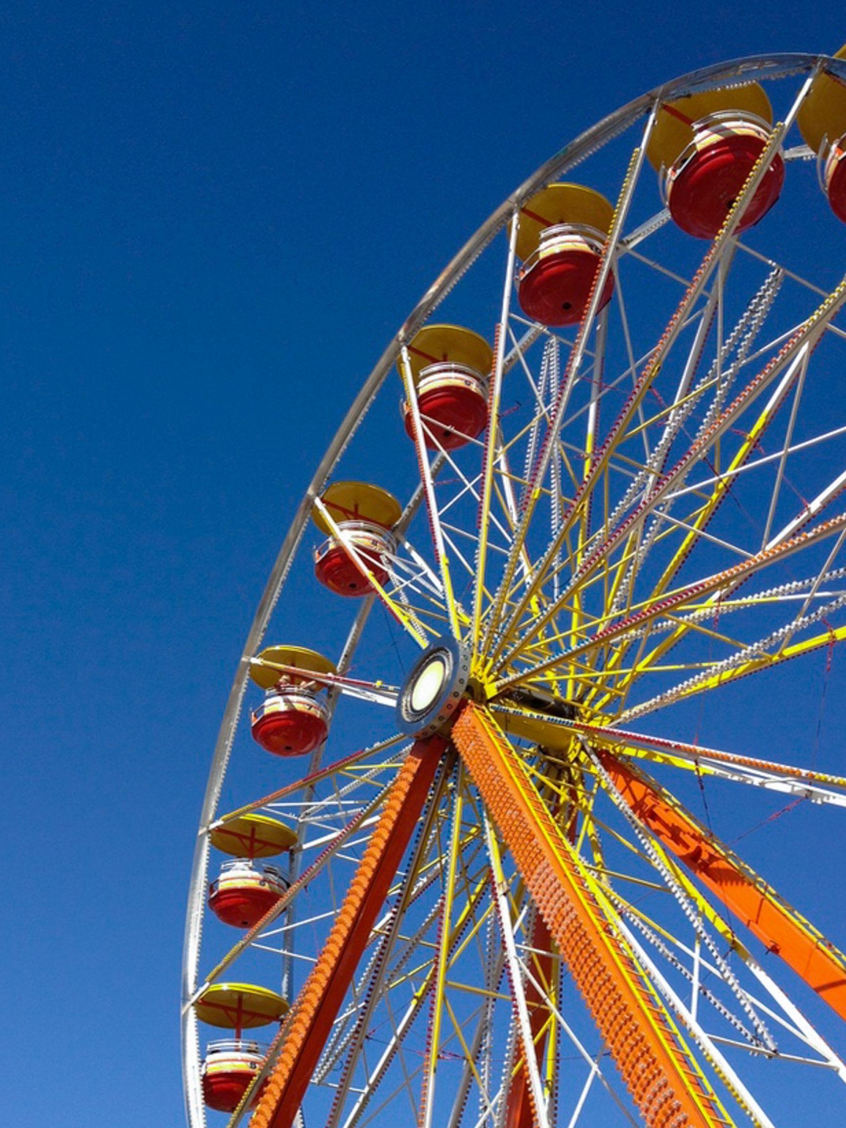 A Ferris wheel at the North Carolina State Fair in Raleigh