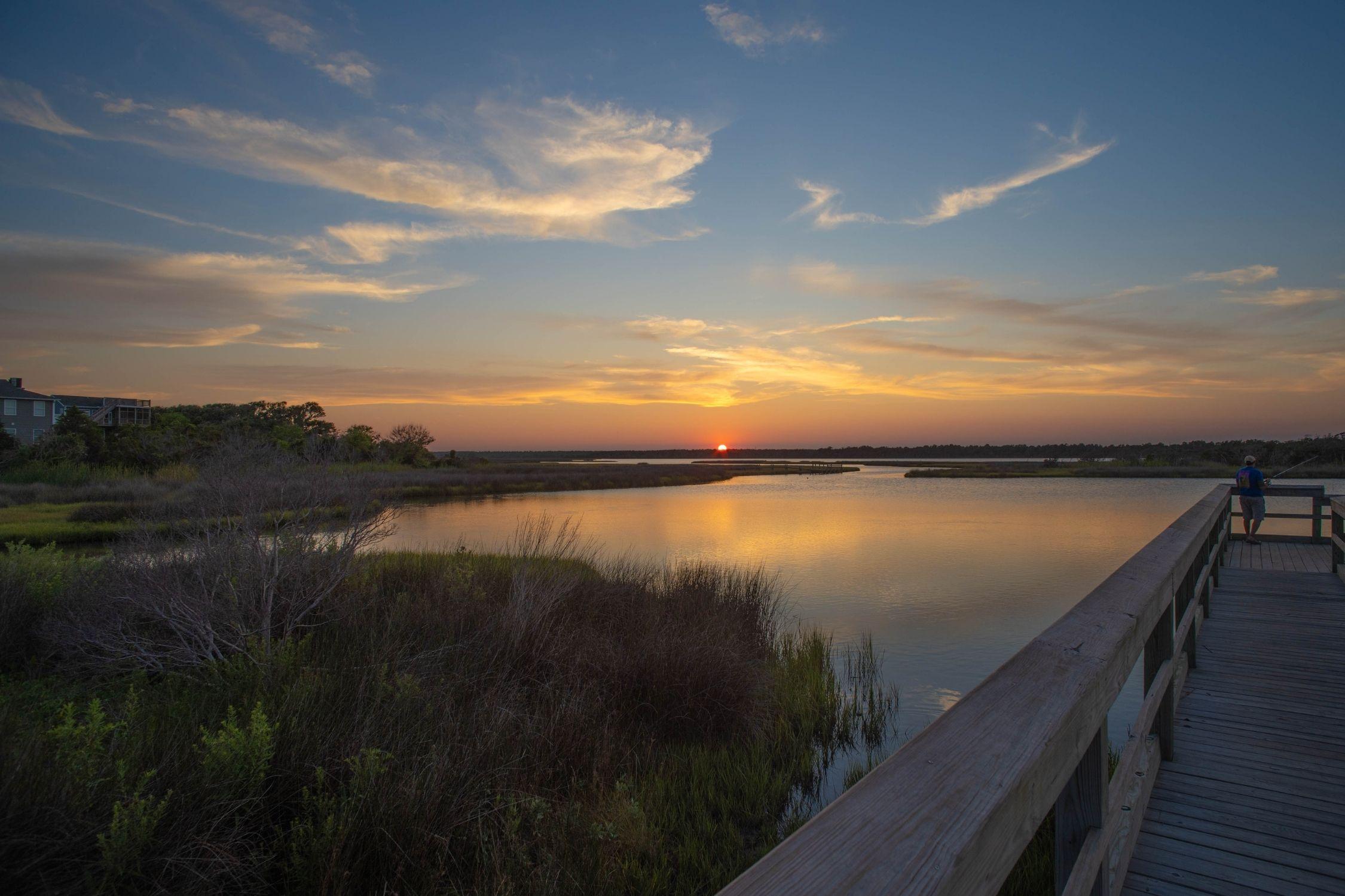 Marsh at sunset on Topsail Island