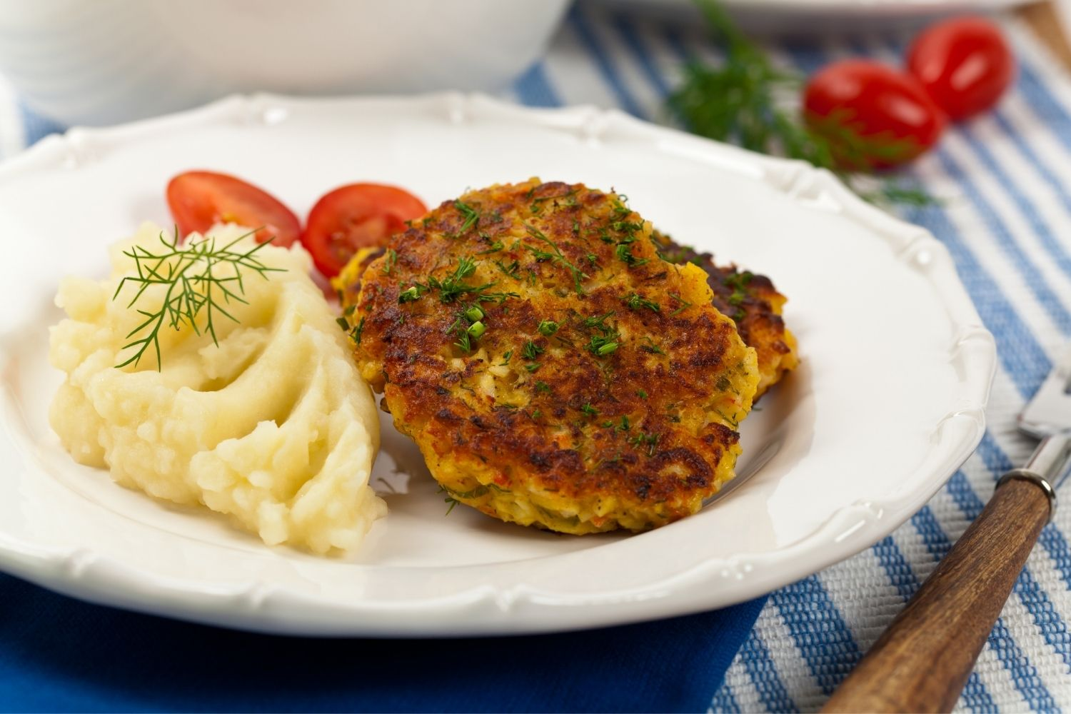 Crab Cakes at Lady's Island Dockside