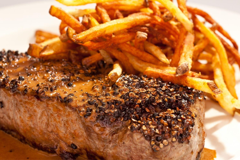 Wren Bistro & Bar serves up steak frites as one of the best restaurants in Beaufort