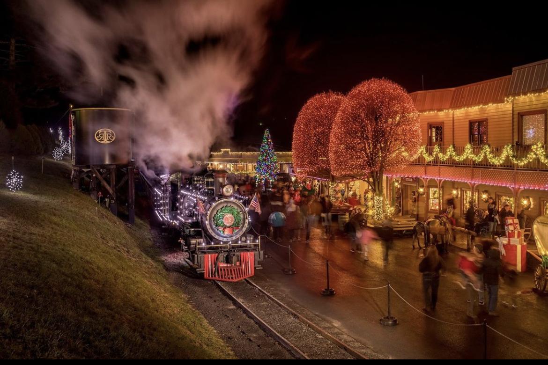 Tweetsie Railroad in Blowing Rock Around Christmas time